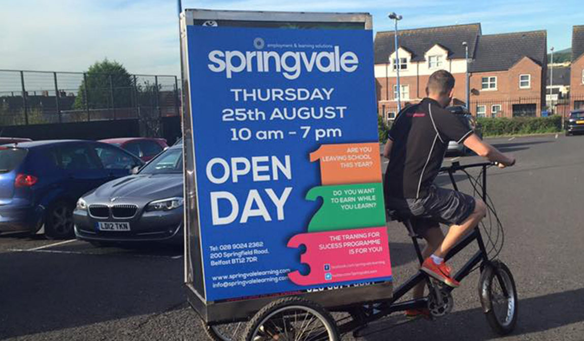 Outdoor advertising for the Springvale Freshers Fair, August 2016