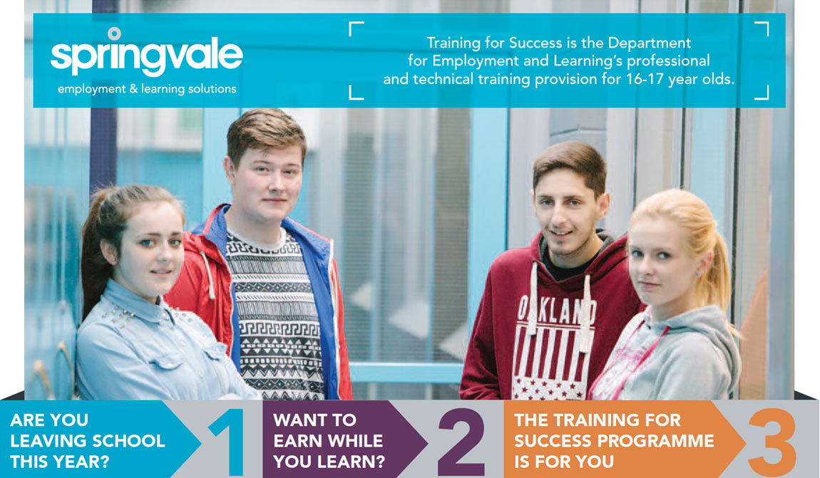 School leavers from Belfast enrolling for 2016 at Springvale Learning