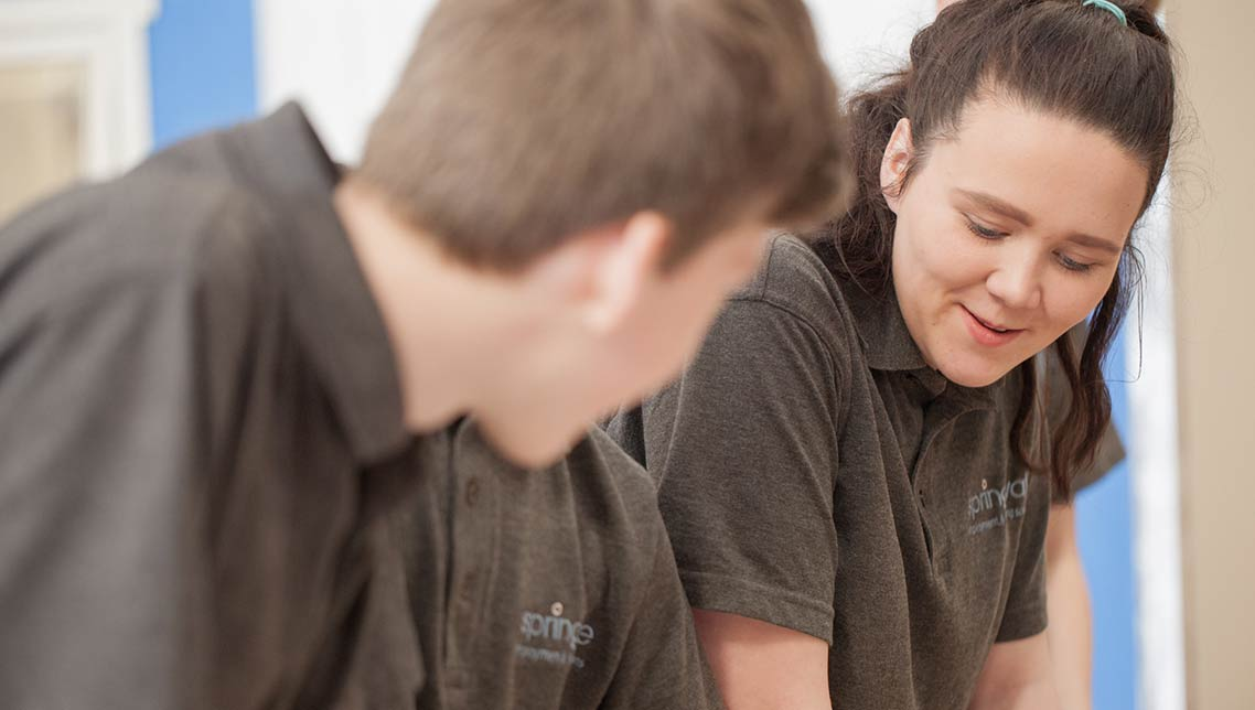 Female engineering apprentice at Springvale Learning, Belfast
